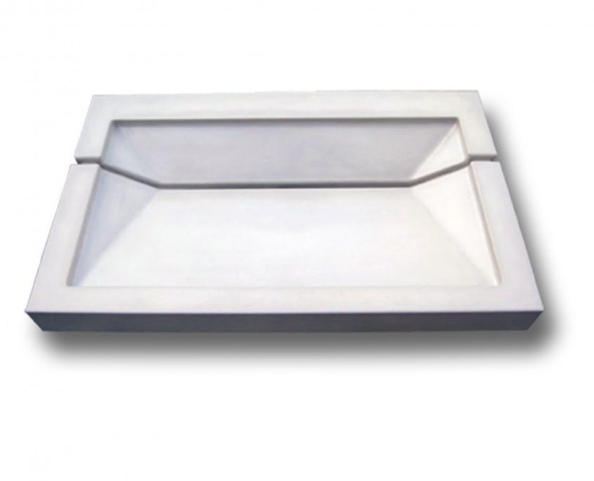 plan vasque béton blanc