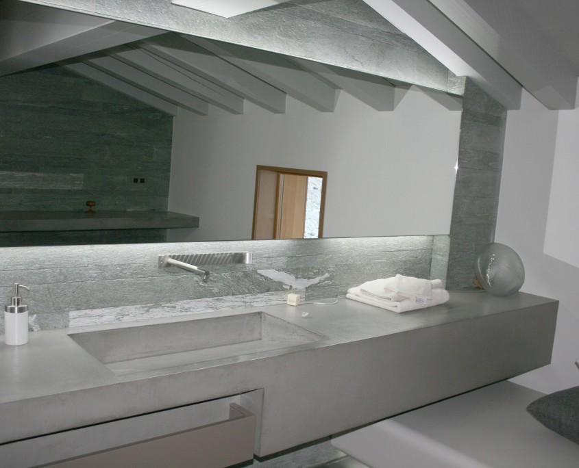 plan vasque béton