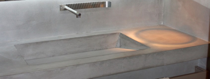 Salle de bain en b ton cir d coratif 3dco for Salle de bain beton cire