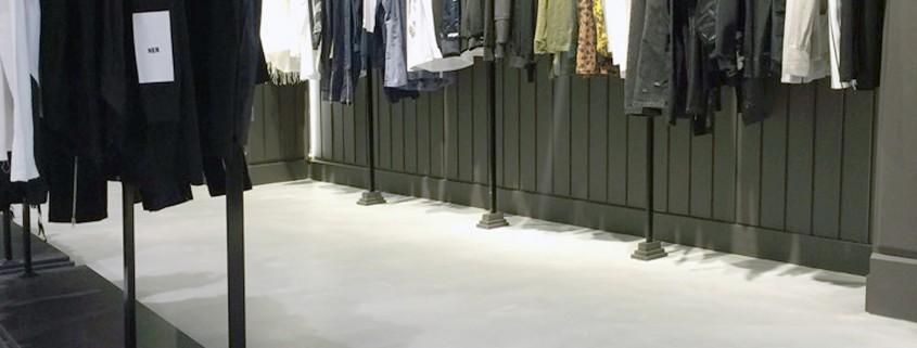 Sol boutique béton ciré