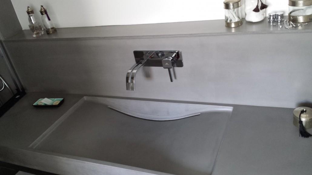 vasque lavabo béton