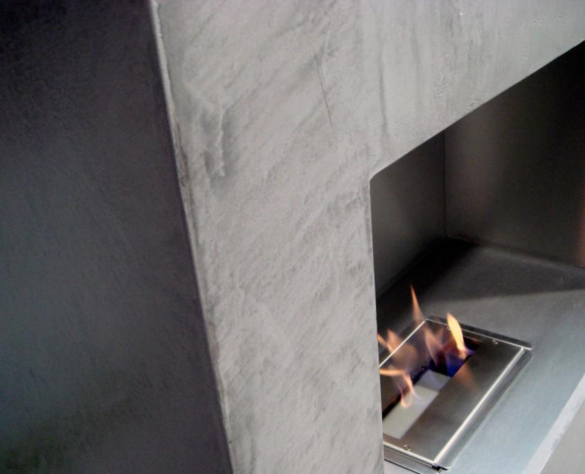 cheminée béton ciré