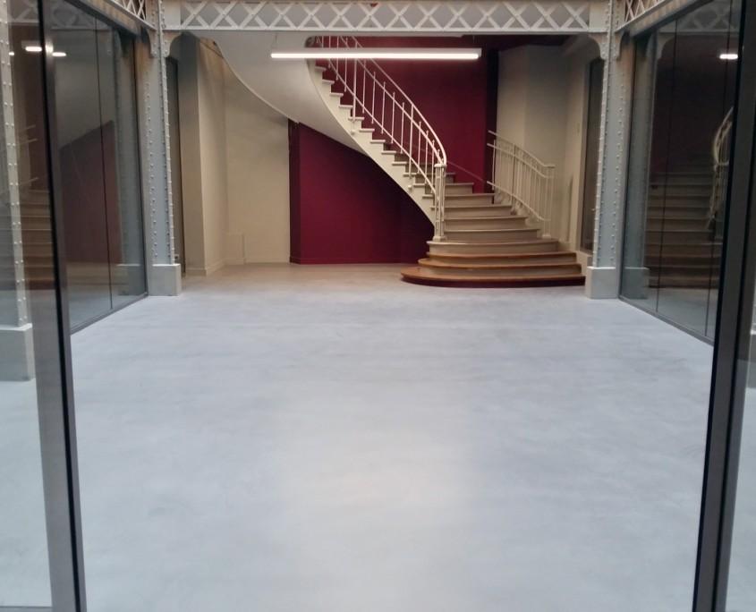 renovation sol en béton ciré