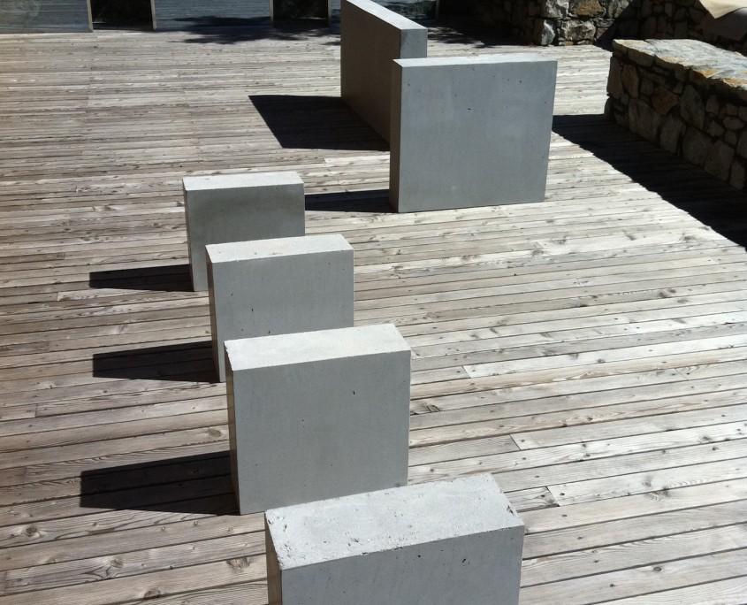 mobilier outdoor béton